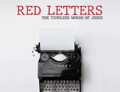 November 4th, 2018: Red Letters-Week 1
